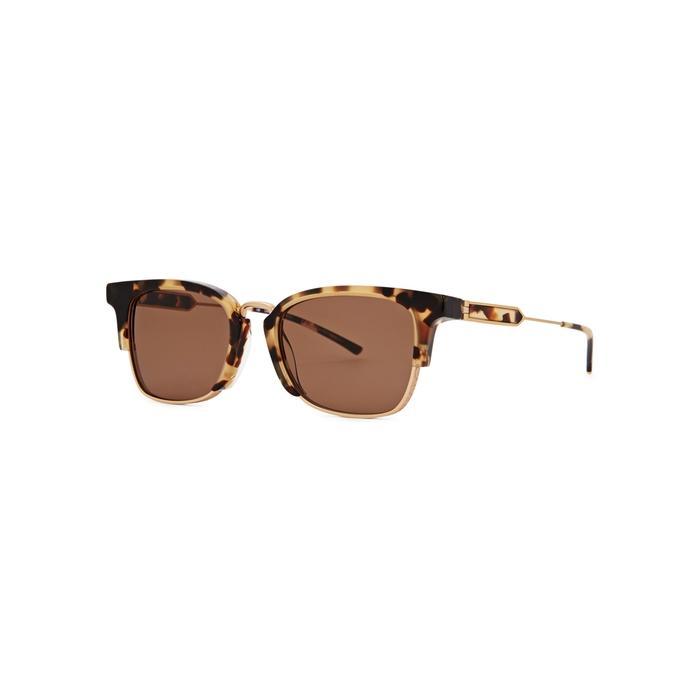 49326b2de0 Calvin Klein Gold-Tone Wayfarer-Style Sunglasses In Tortoise