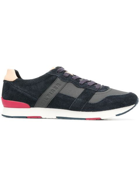 Tommy Hilfiger Panelled Low Top Sneakers In 403 Blue