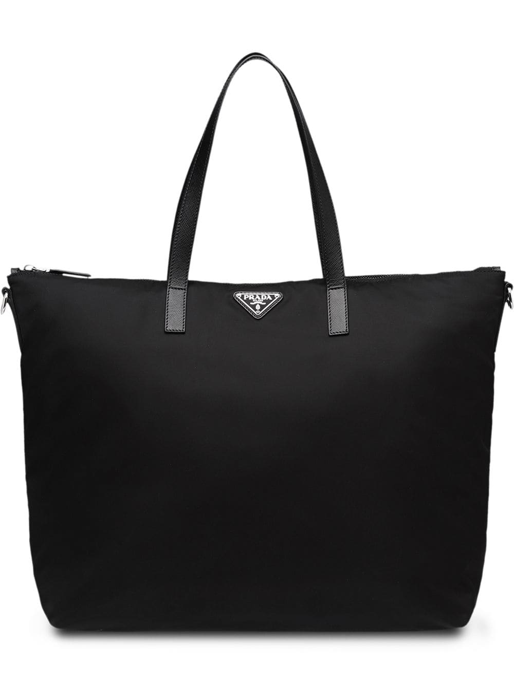 306ae6da43 Prada Logo Plaque Tote Bag - Black In F0002 Black | ModeSens