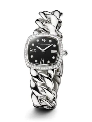 David Yurman Albion 23Mm Stainless Steel Quartz Watch With Diamonds In Silver