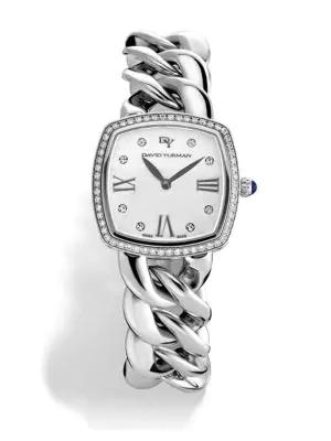 David Yurman Albion 27Mm Stainless Steel Quartz Watch With Diamonds In Silver