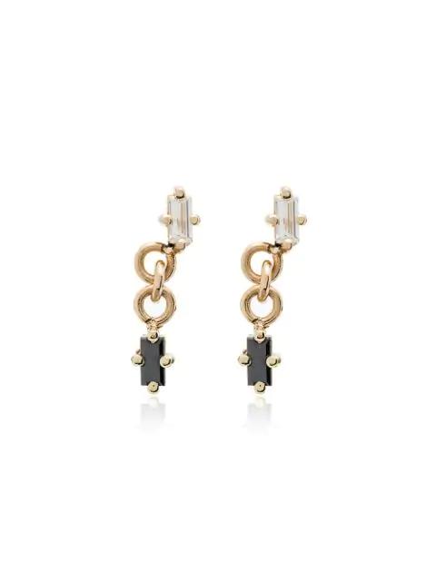 Lizzie Mandler Fine Jewelry Mini 18kt Gelbgoldohrstecker Mit Diamant In Yellow Gold Black
