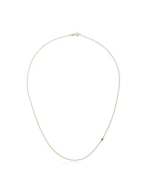 Lizzie Mandler Fine Jewelry 'floating' Halskette Mit Smaragden In Green