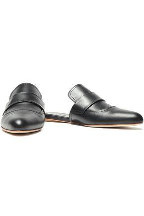 Marni Leather Slippers In Black
