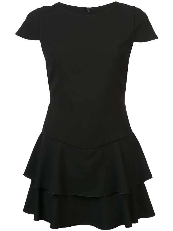 Alice And Olivia Layered Detail Playsuit In Black