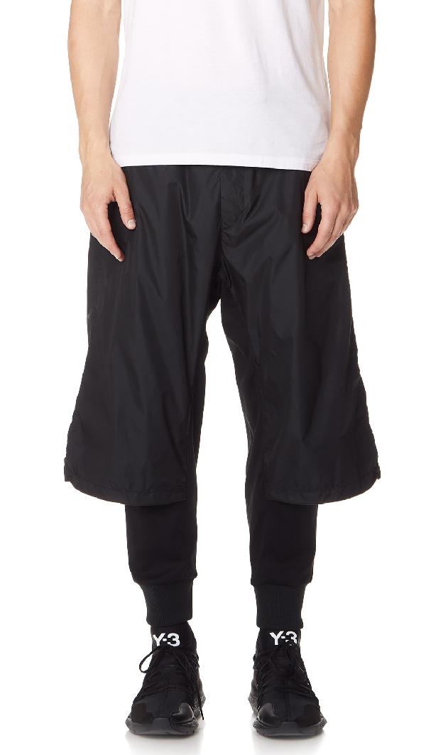 231af87d323dd Y-3 Layer Effect Track Pants In Black Black