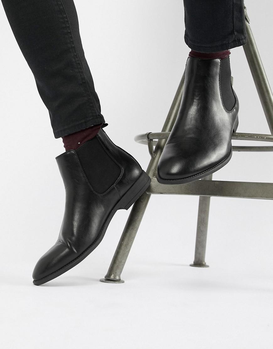 3278221421902 New Look Faux Leather Chelsea Boots In Black - Black | ModeSens