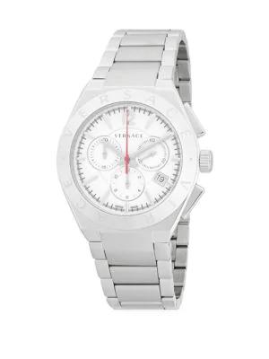 Versace Classic Stainless Steel Bracelet Watch In Grey