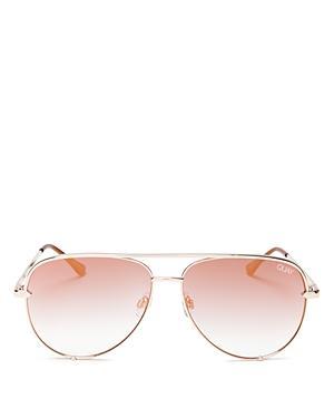 ebc7767a8cab3 Quay X Desi Perkins High Key 62Mm Aviator Sunglasses - Rose  Copper Fade