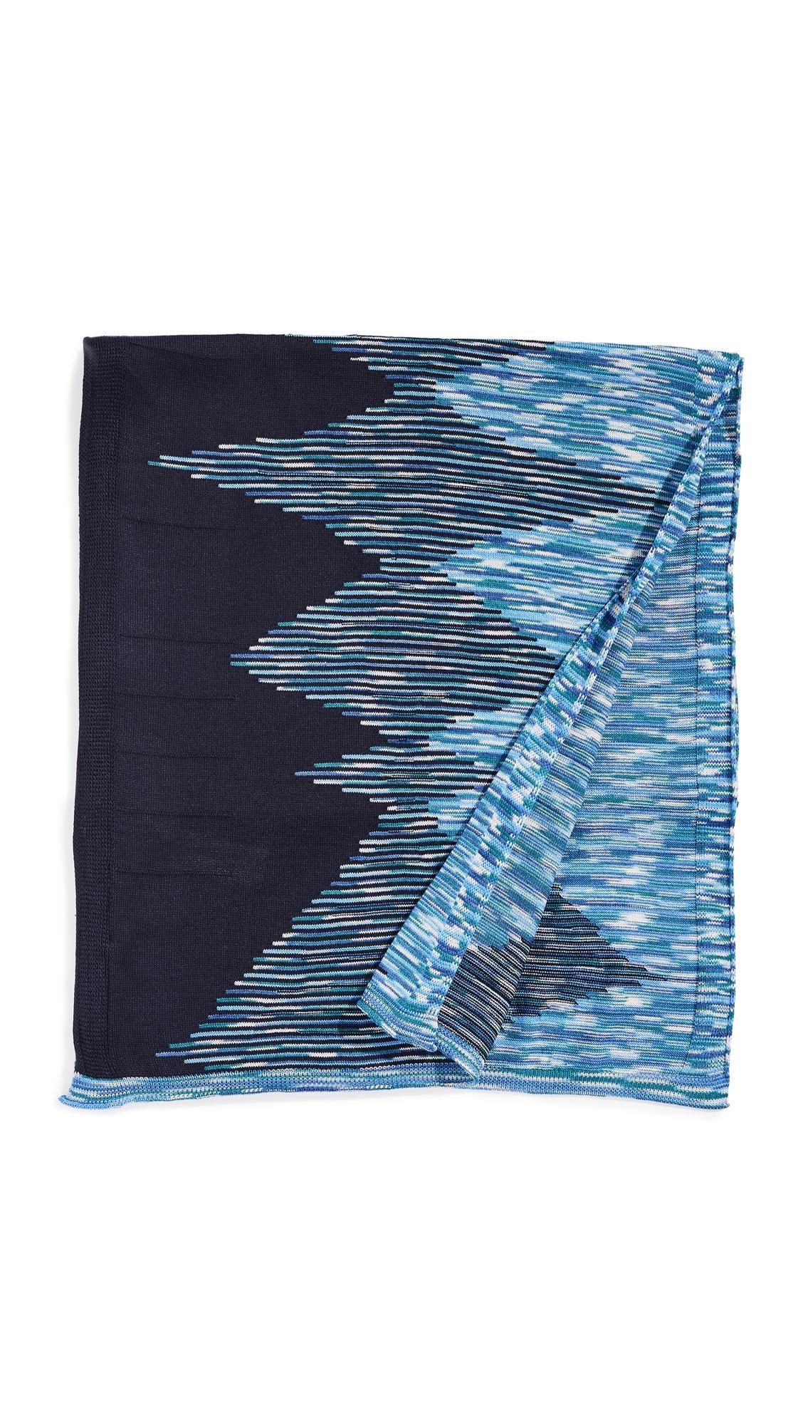 Missoni Space Dye Scarf In Blue Multi