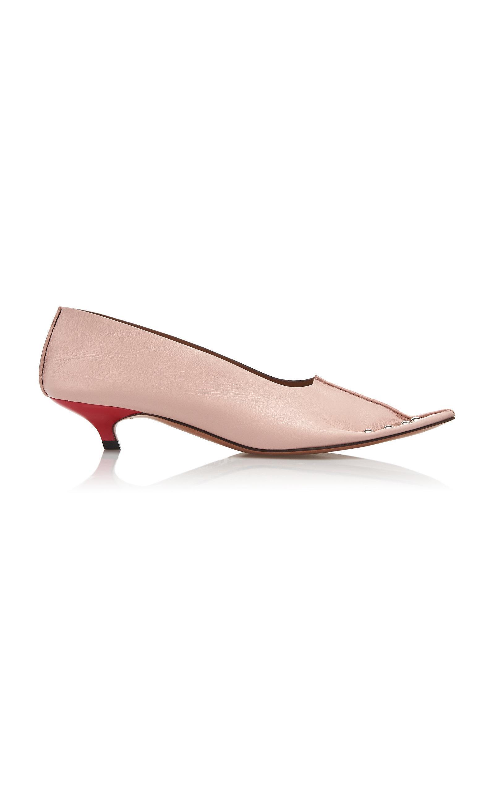 3fded04e9f86 Marni Studded Low-Heel Pumps In Pink. Moda Operandi