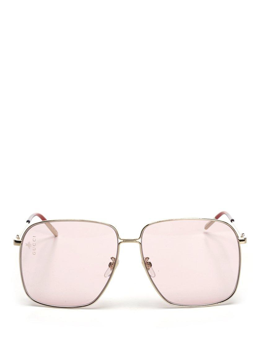 af608a58b41 Gucci Square Frame Sunglasses In Pink. CETTIRE