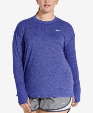 Nike Plus Size Element Running Top In Regency Purple