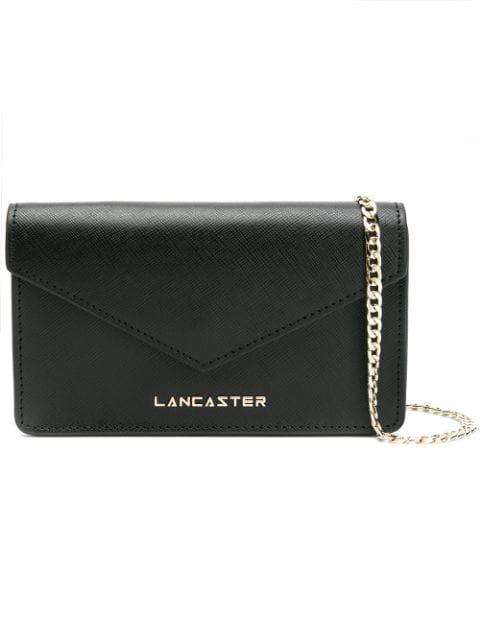 Lancaster Foldover Clutch Bag In Black