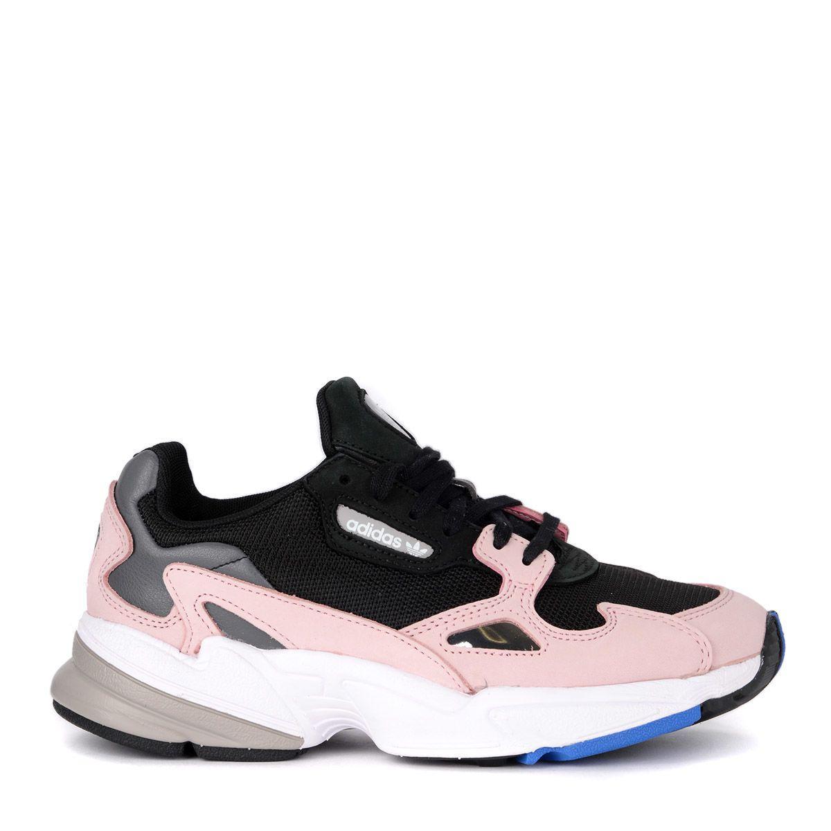 new concept detailed look lowest price Sneaker Adidas Originals Falcon In Mesh Nero E Suede Rosa