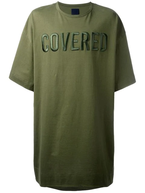 Juun.J Front Patches Oversized T-Shirt - Green