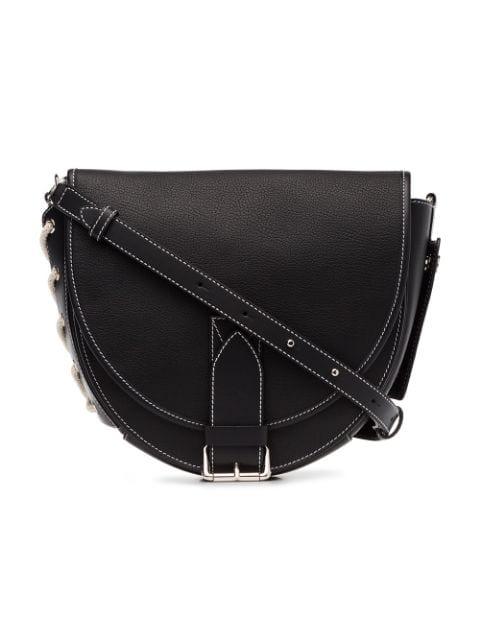 Jw Anderson J.w. Anderson | Saddle Bag In Black Goatskin