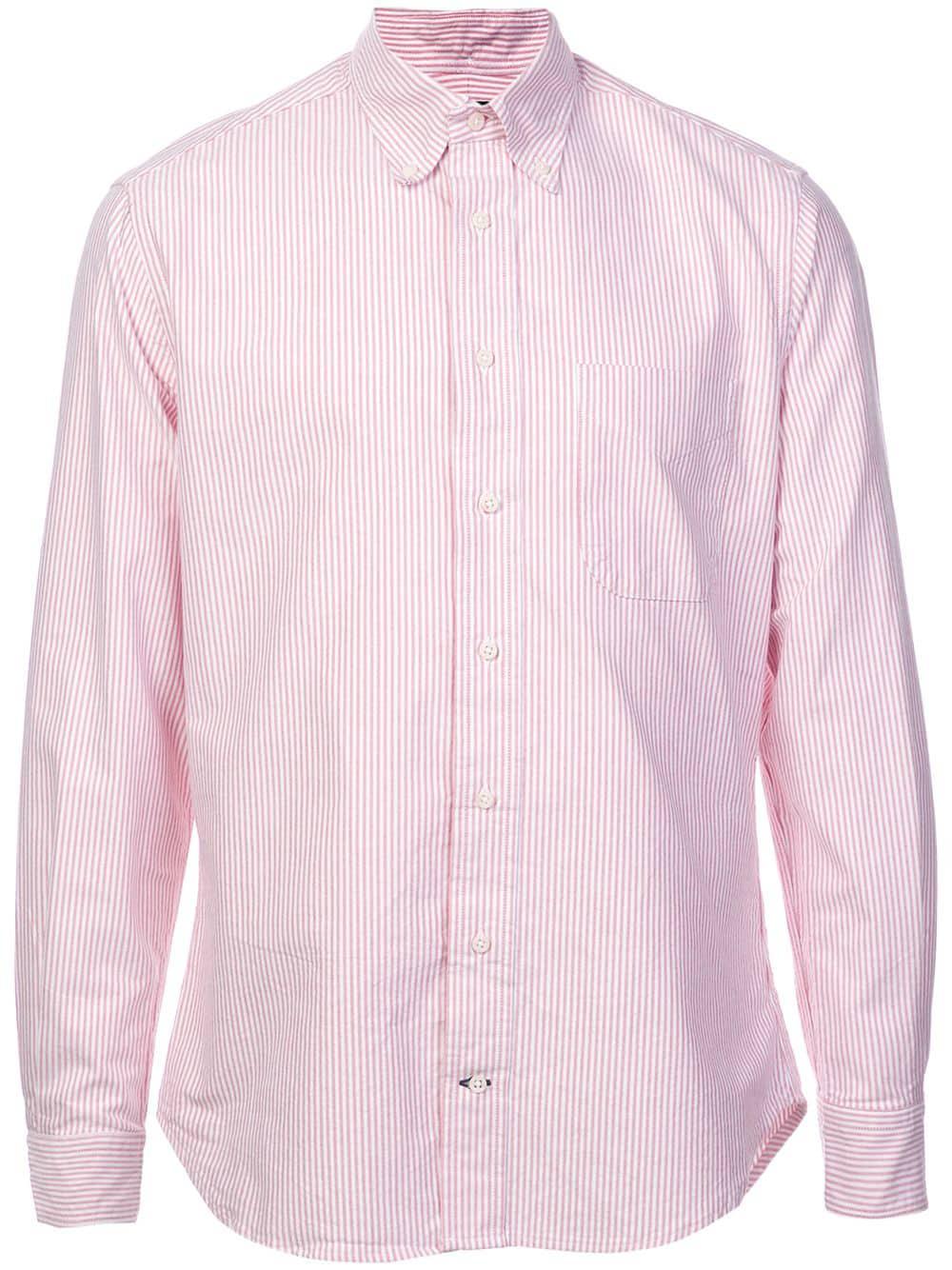 93b5aee4 Gitman Vintage Gitman Pre-Owned Striped Button-Down Shirt - Pink ...