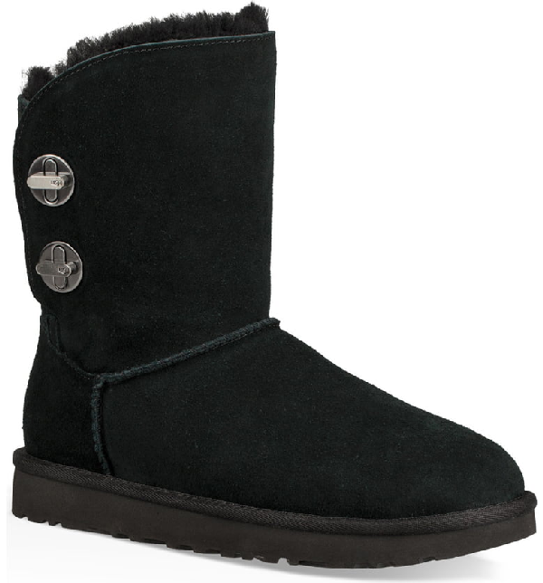 d4d4dfe3b5 Short Luxe Turn-Lock Boots in Black Suede