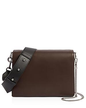 75bd2a9678ea Allsaints Zep Medium Leather Shoulder Bag In Port Burgundy Silver ...