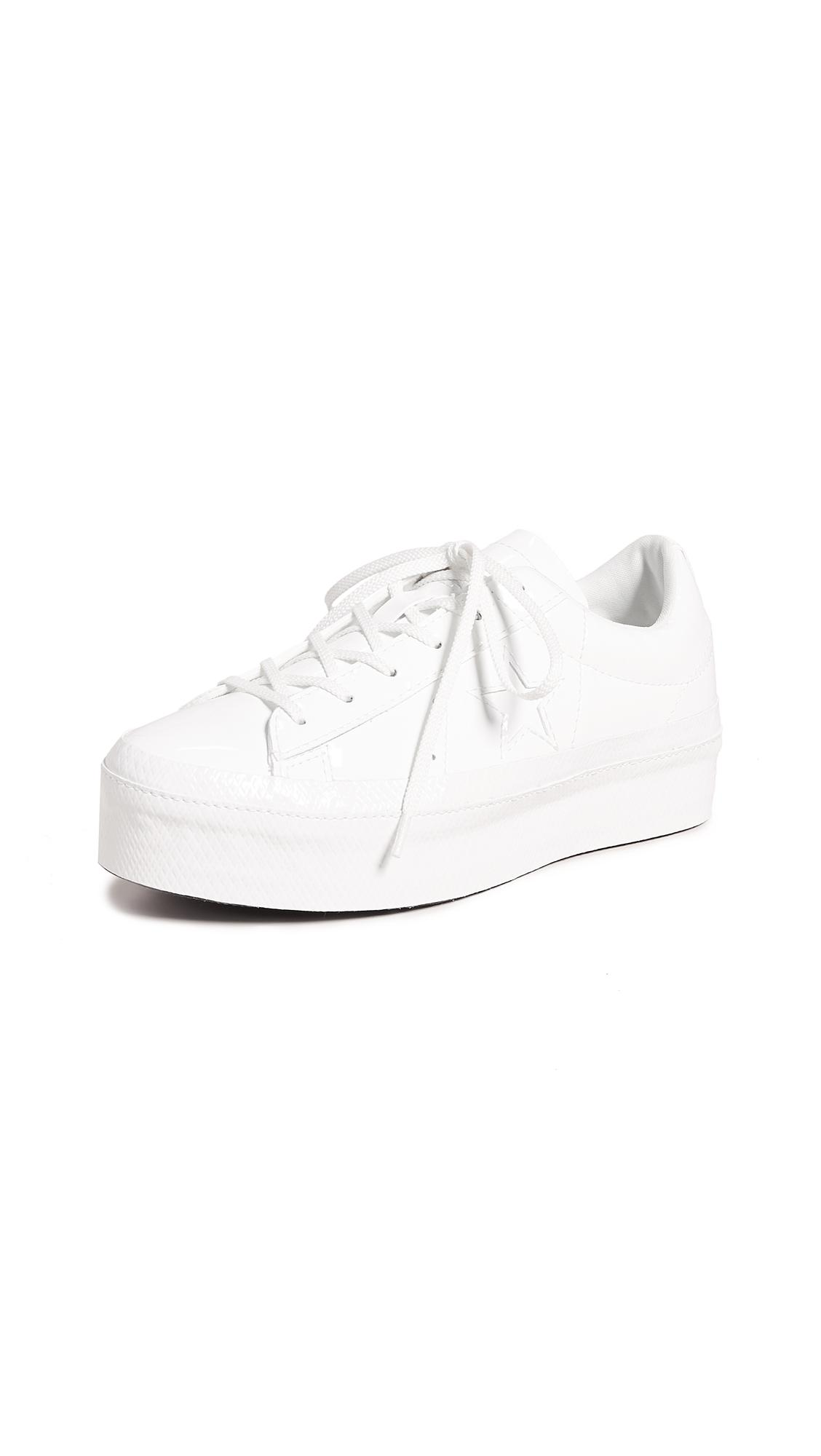 5665c191d94 Converse Women s One Star Lace-Up Platform Sneakers In Vintage White ...