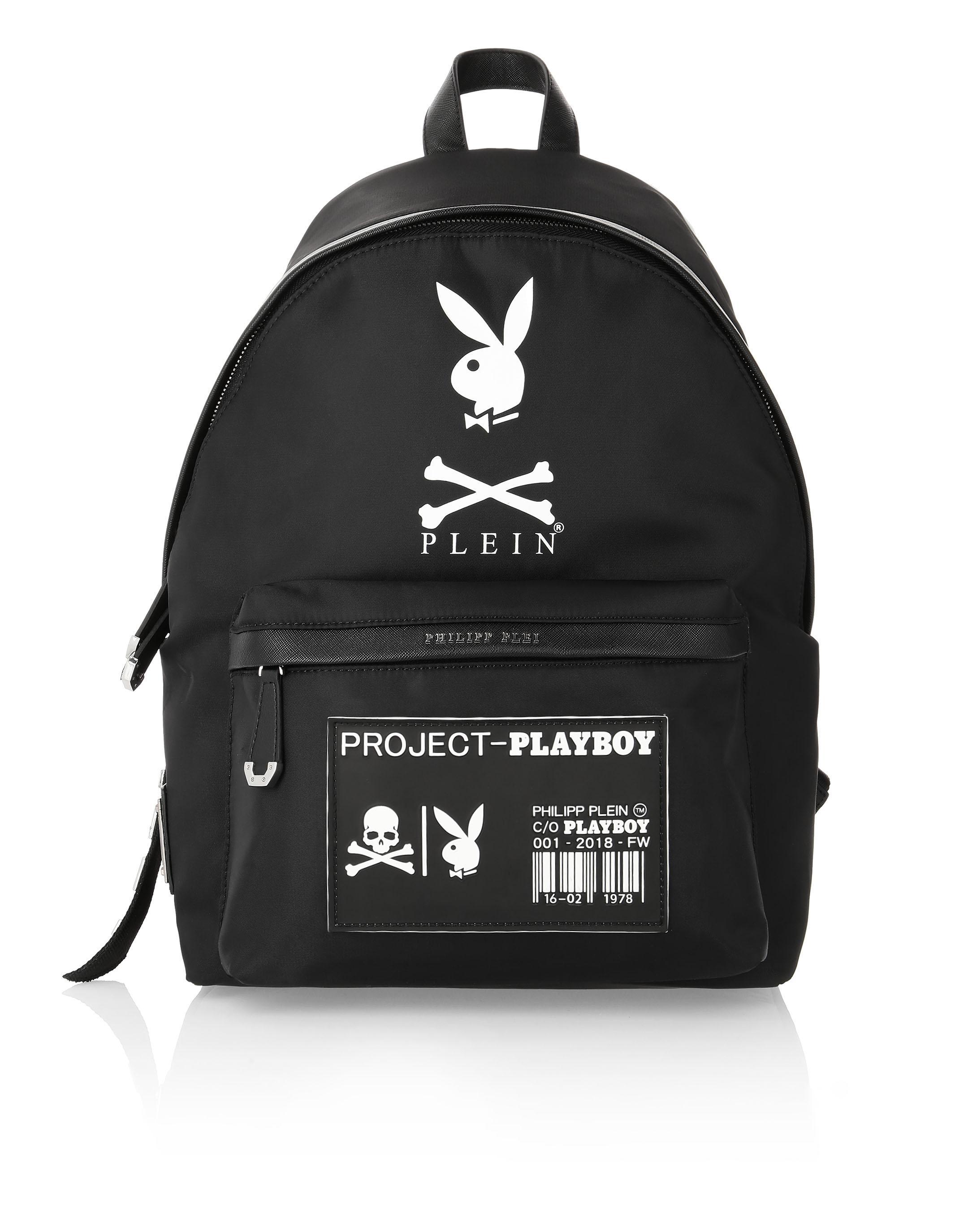 26897711a80 Philipp Plein Backpack Playboy In Black   White