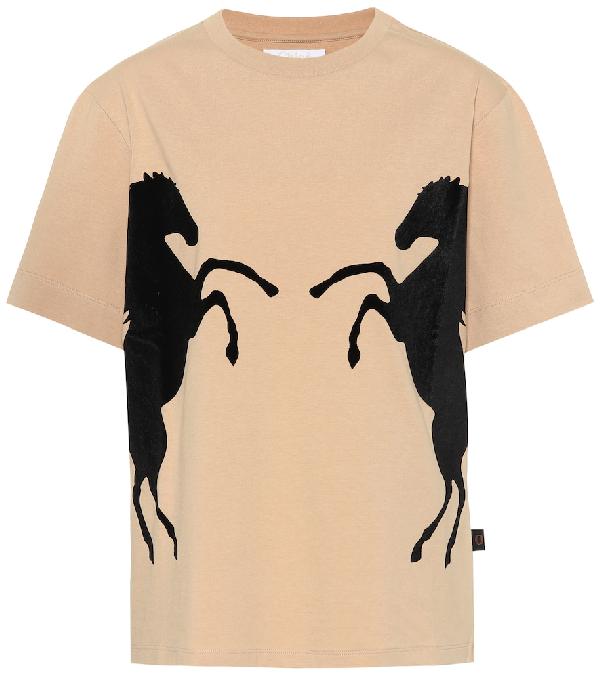 ChloÉ Chloe Beige Horse T-Shirt