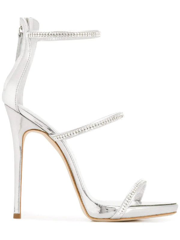 1722412e31bbd GIUSEPPE ZANOTTI. Patent Leather 'Harmony' Sandal With Crystals Harmony  Sparkle ...