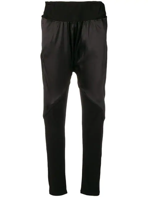 Tsumori Chisato Panelled Drop Crotch Joggers In Black