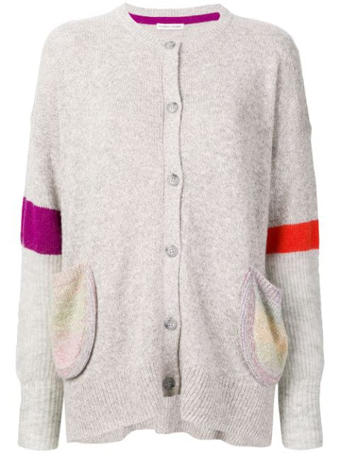 Tsumori Chisato Striped Sleeve Cardigan In Grey