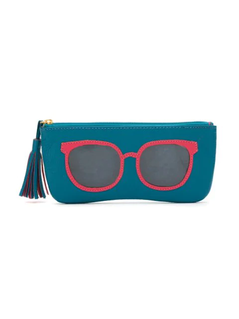 Sarah Chofakian Leather Pouch In Blue