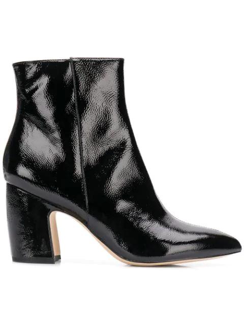56186b81ac513 Sam Edelman Varnish Ankle Boots - Black