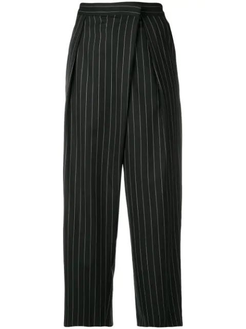 Juun.j Pinstriped Culottes - Black