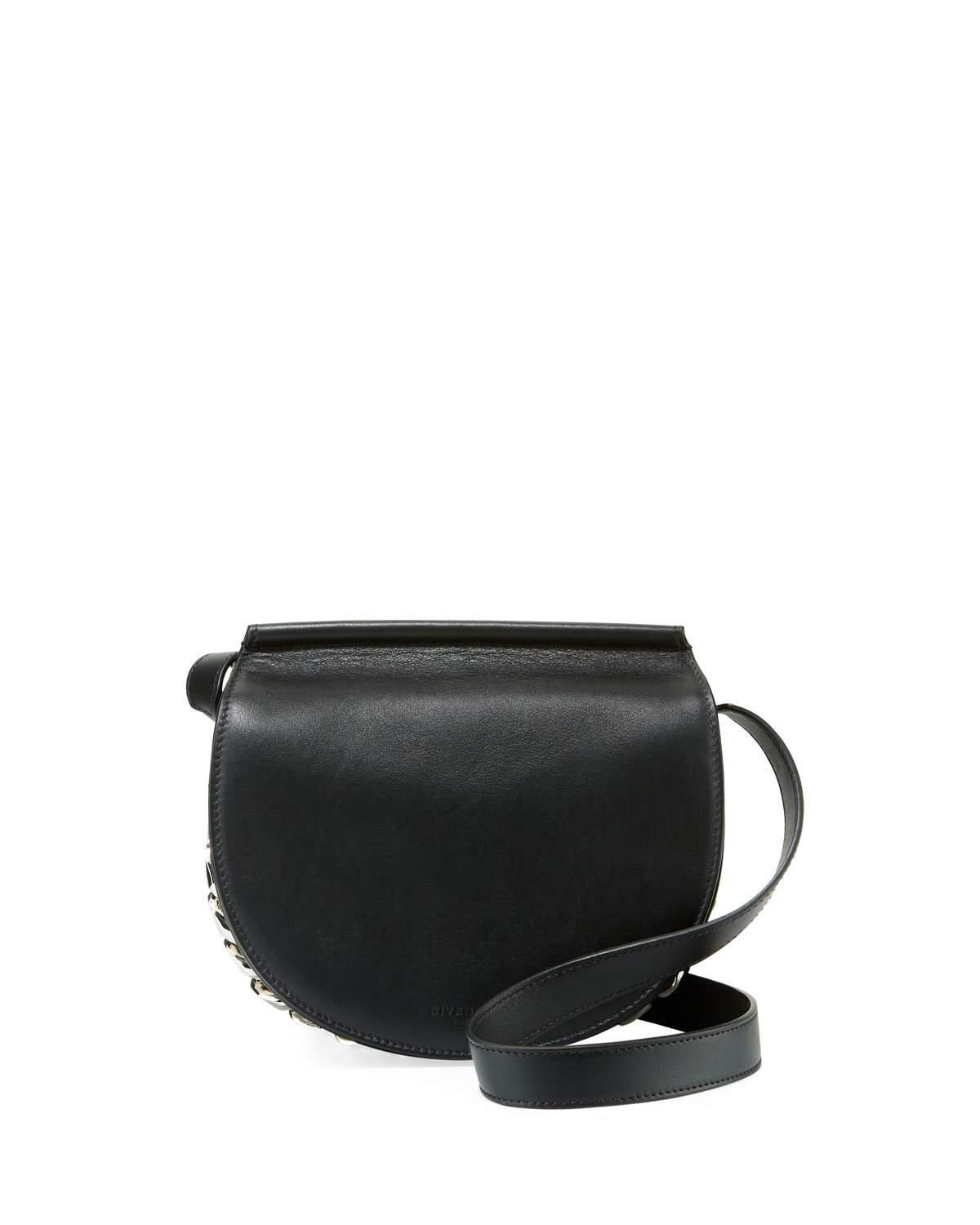207b6d5e0b Givenchy Infinity Mini Smooth Leather Saddle Bag In Black