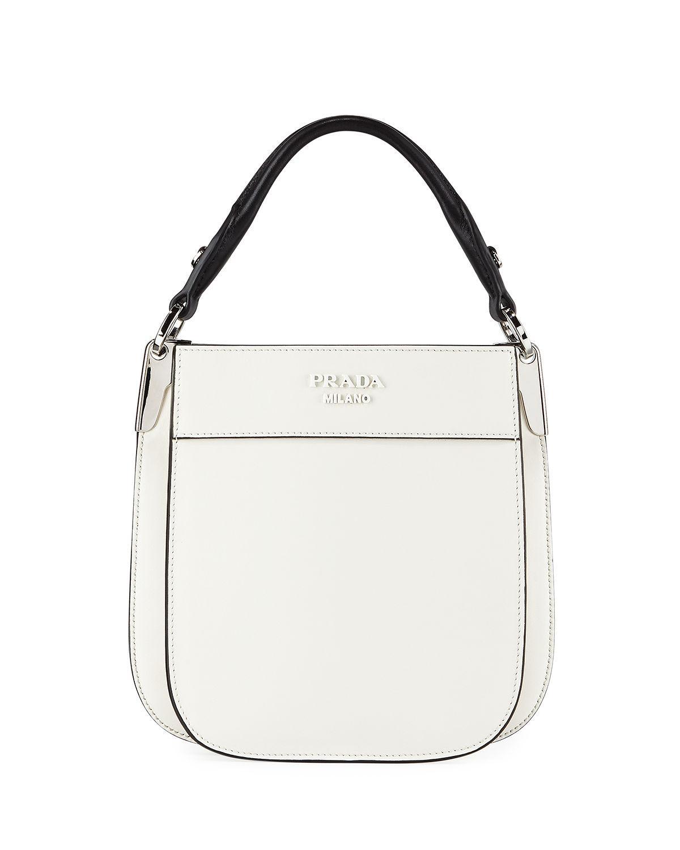 945696719181 Prada Small Margit Shoulder Bag In White/Black   ModeSens