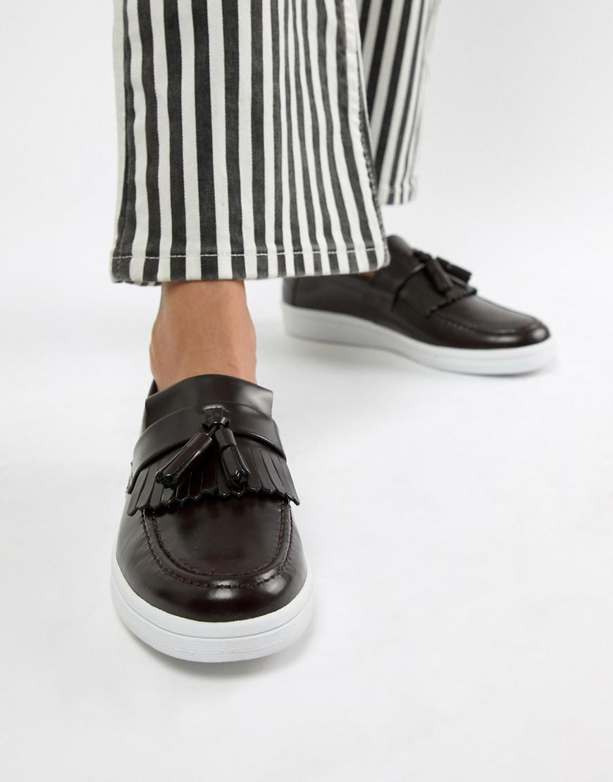 Fred Perry X George Cox Tassle Loafer-brown