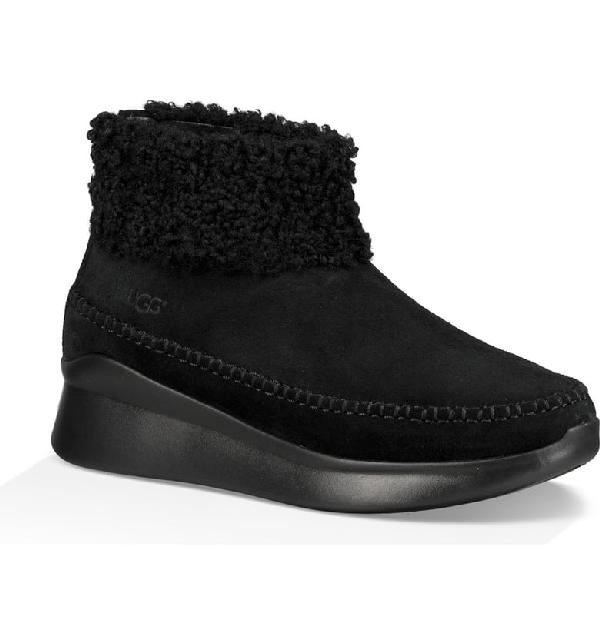 a399575fb06 Montrose Short Zip Wedge Boot Sneakers in Black