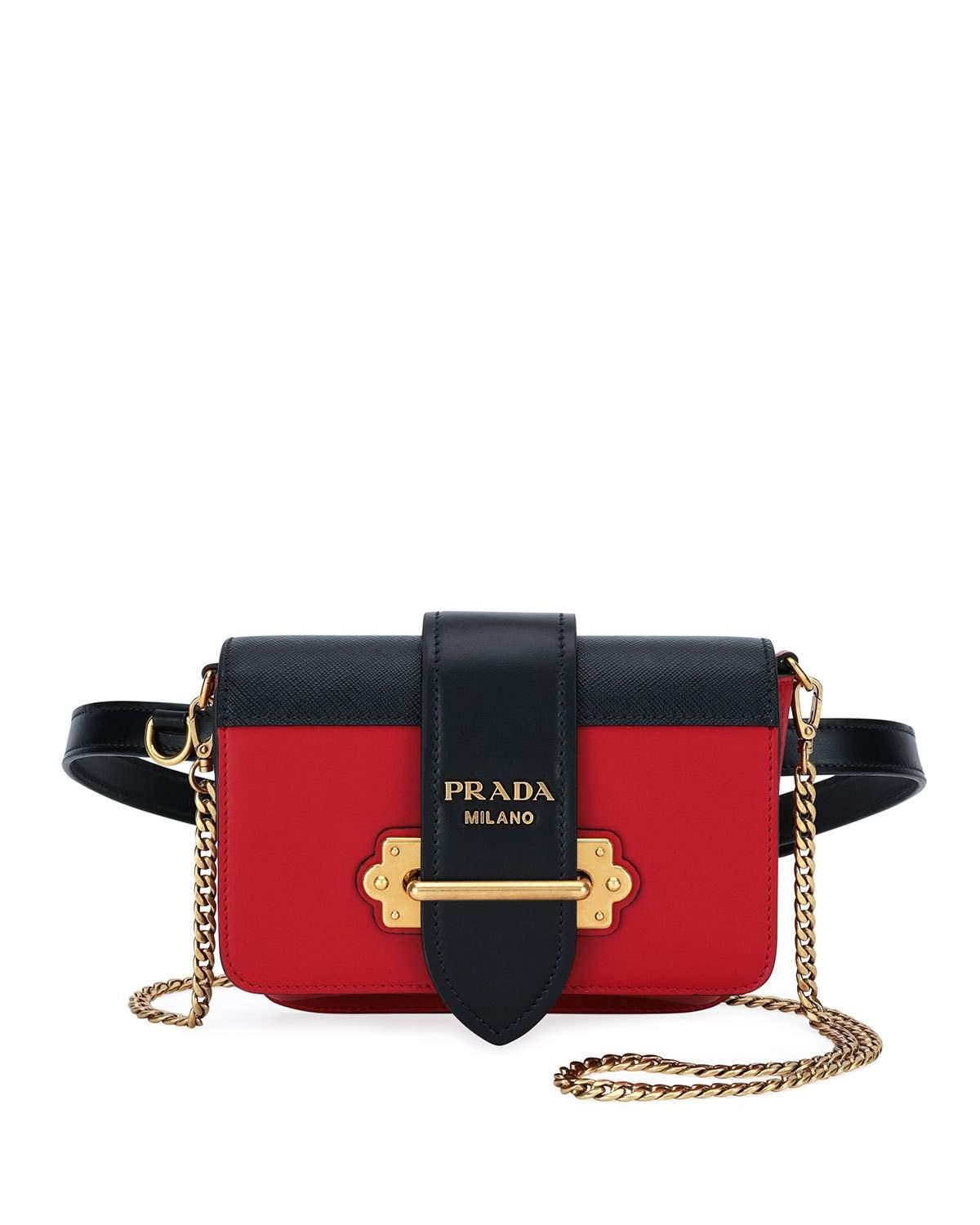 f7ee17fa100bf Prada Cahier Belt Bag In Black