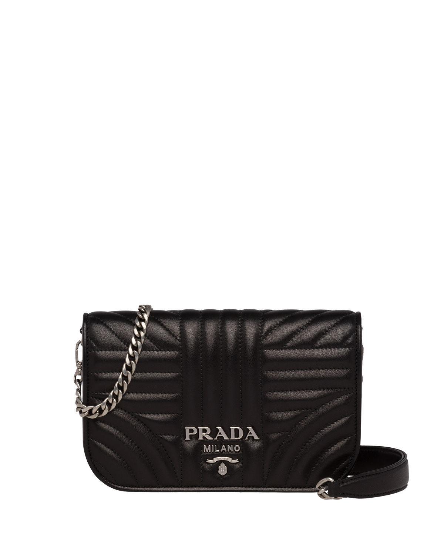 50b2febf504b Prada Small Diagramme Crossbody Bag In Black   ModeSens