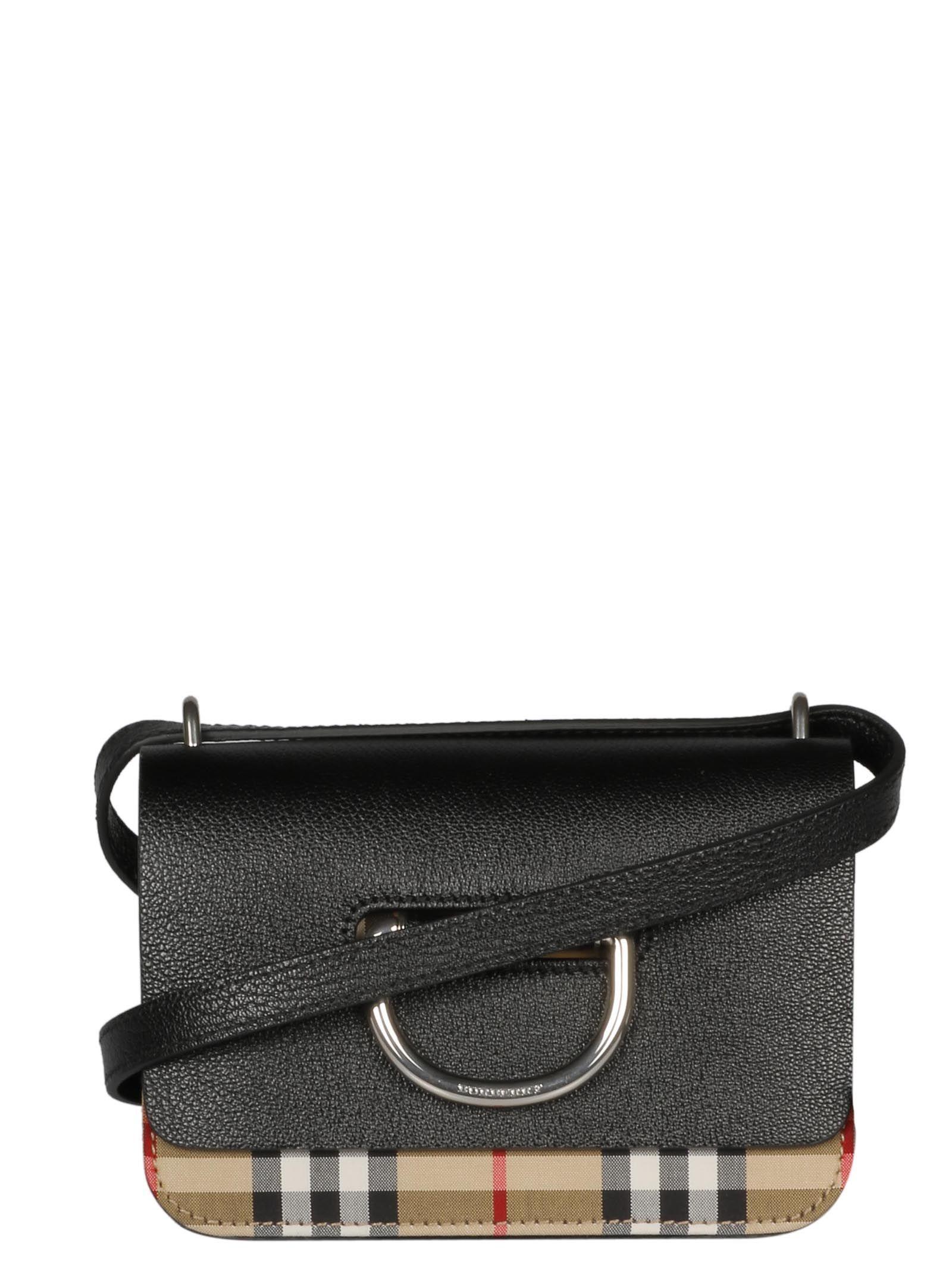 67472edc Burberry Mini Vintage Check Shoulder Bag In 00100 | ModeSens