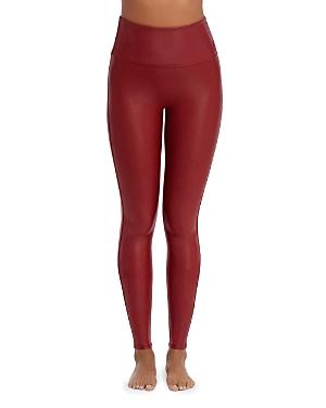 bb8e1d1c47 Spanx Ready-To-Wow Trade  Faux-Leather Leggings In Crimson
