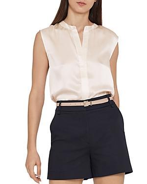 450a6e24ce5a1d Reiss Lila Silk Top In Off White | ModeSens