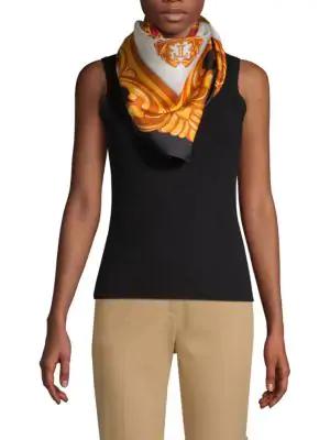 Moschino Foulard Silk Scarf In Multi