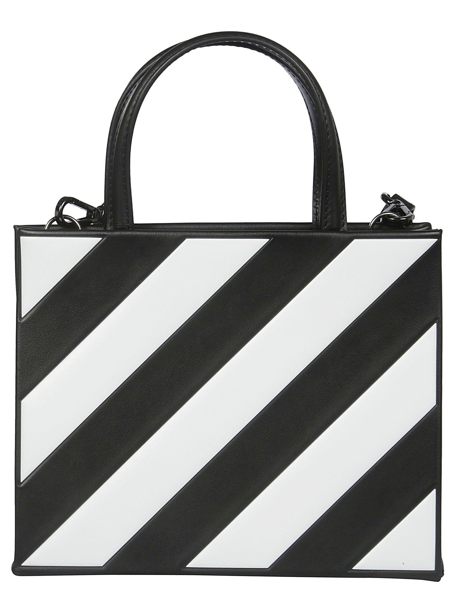 00f9f99a3 Off-White Diagonal Stripe Tote In Black White | ModeSens