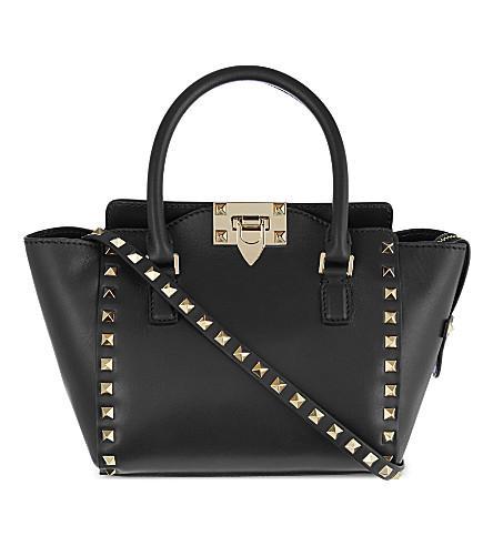 Valentino Small North/South Rockstud Tote, Black In Http://Www.Selfridges.Com/En/-Rockstud-Mini-Leather-Tote_220-84023422-856Bol/