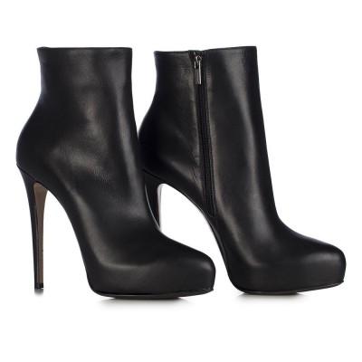 Le Silla Low Boot In Chiffon, Black Soft Calfskin