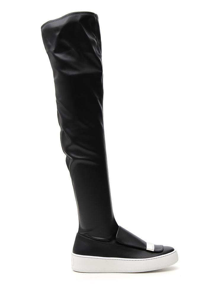 Sergio Rossi Platform Knee High Boots In Black