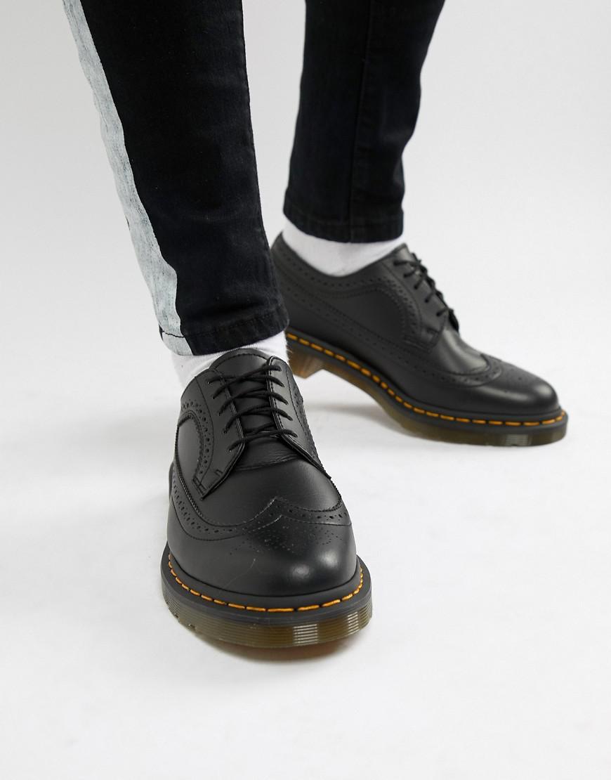 69b187de1 Dr. Martens Faux Leather 3989 Brogue Shoes In Black - Black | ModeSens