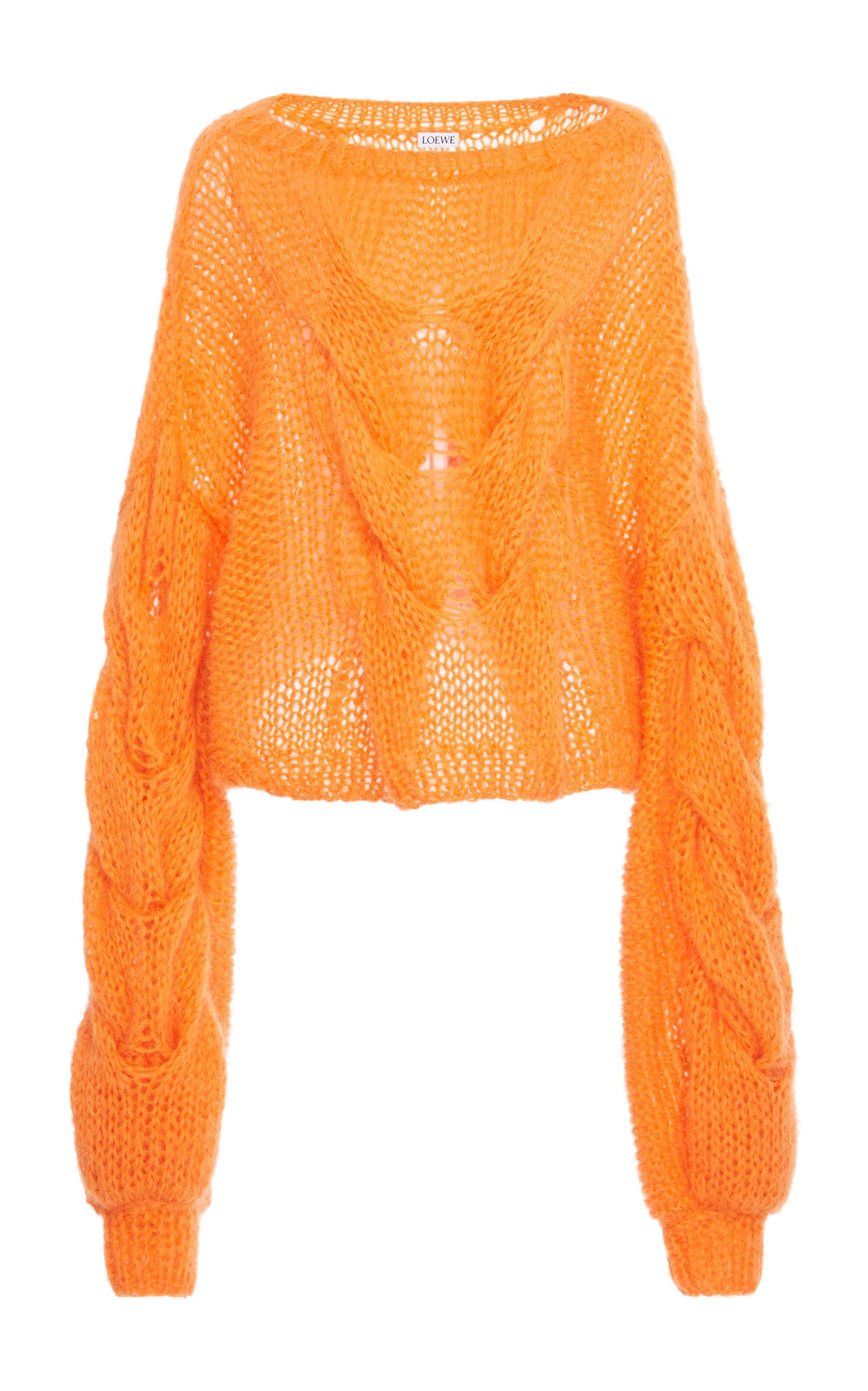 8caf6414761 Loewe Cable Mohair-Blend Sweater In Orange. Moda Operandi