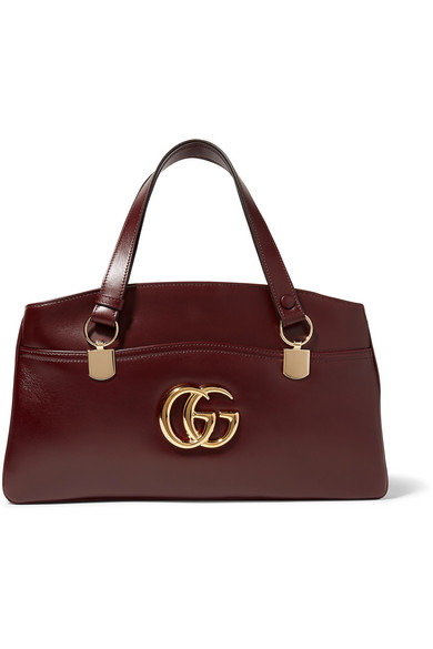 ff0126c9f7e Gucci Arli Large Leather 2-Compartment Top Handle Tote Bag In Burgundy